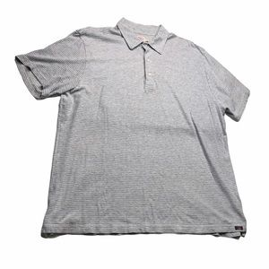 Faherty Collared Cotton Striped Short Sleeve Shirt